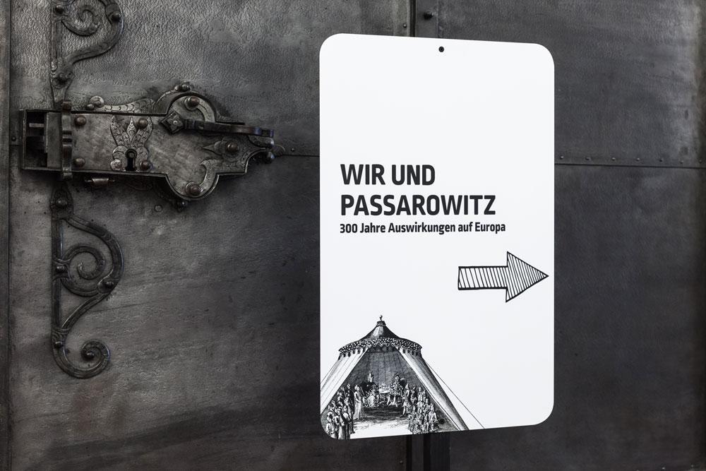 """Leitsystem """"Wir und Passarowitz"""", Foto: Janine Wagner"""