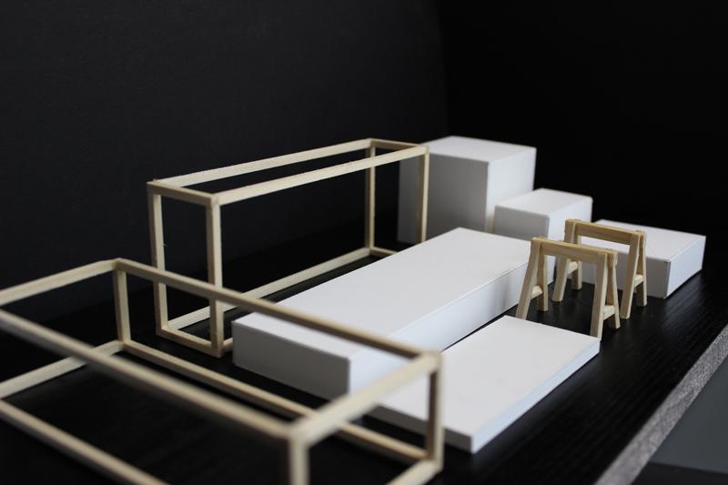 Modell der Ausstellungselemente